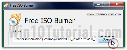 Create a bootable CD / DVD in Windows 10 / 8 / 7 (Free ISO Burner)